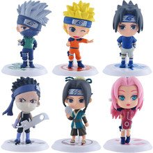 Figura DE ACCIÓN DE Uzumaki Naruto Shippuden Anime, figura de Hatake Kakashi Q, modelo de estatua de Naruto, juguete coleccionable, regalos, 1 unidad