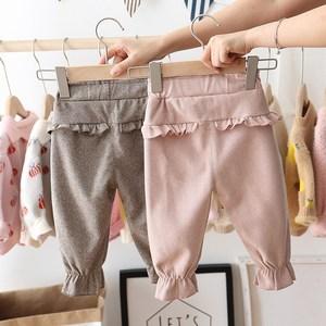 Image 2 - 2020 Autumn Baby Girls Kids Pants Dot Polka Bow Ruffles Casual Trousers Infants Children Clothes Wear Princess Long Pant S9692