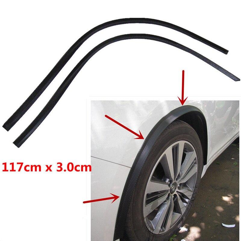 Carro fender flare roda sobrancelha 2pc117cm protetor lábio roda-arco trimr clio 4 3 2 1 esporte