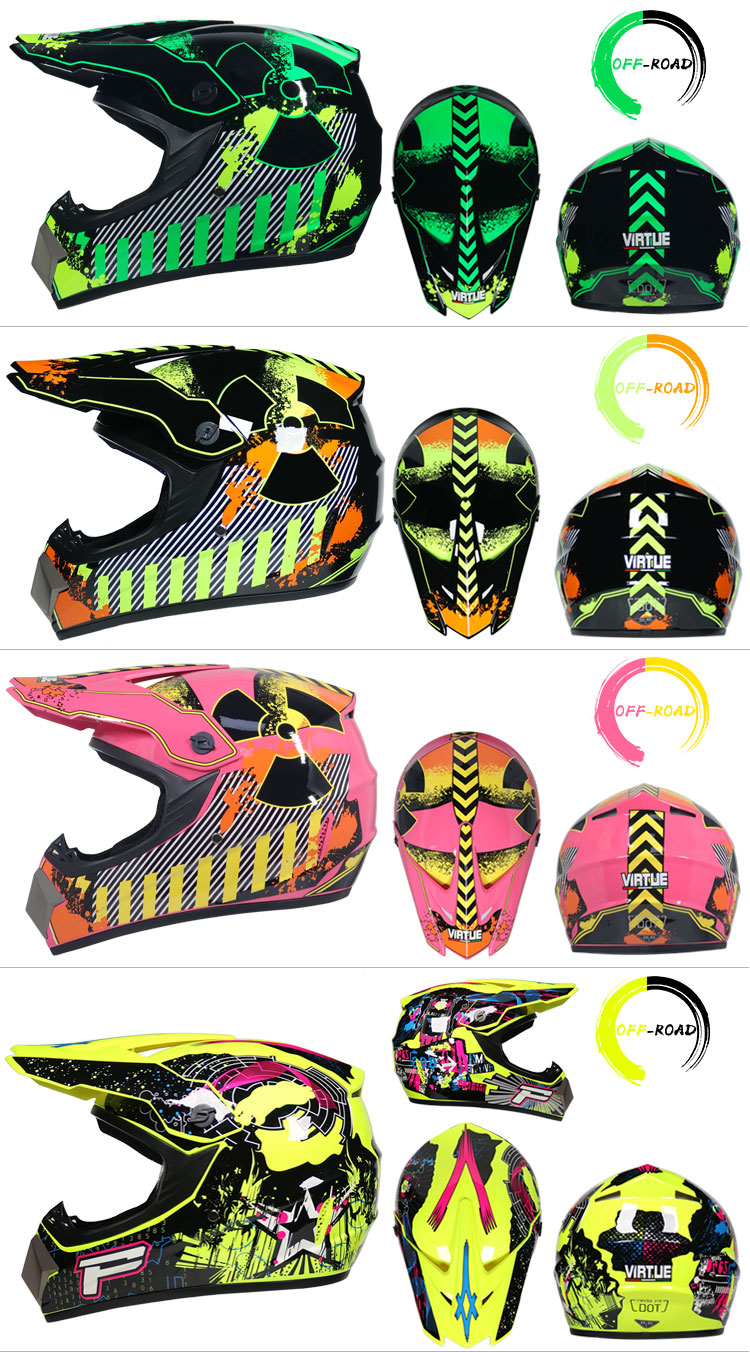 Professional Lightweight Off-road Motorcycle Helmet Racing Bike Children ATV Off-road Vehicle 4