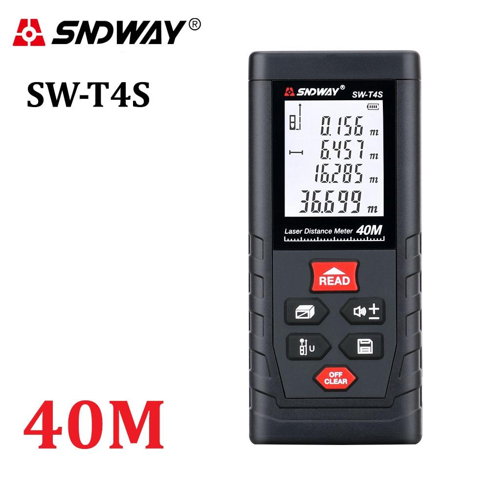 Distanziometro laser SNDWAY 40M 60M 80M 100M telemetro laser trena - Strumenti di misura - Fotografia 5