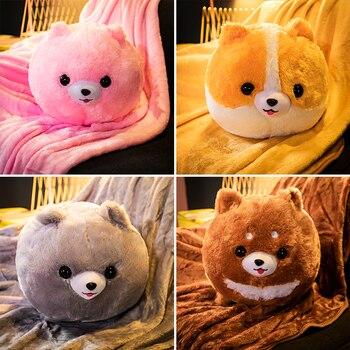 ¡Candice guo! Lindo juguete de felpa encantador animal cilindro perro husky cachorro suave relleno cojín manta caliente cumpleaños regalo de Navidad 1 pieza