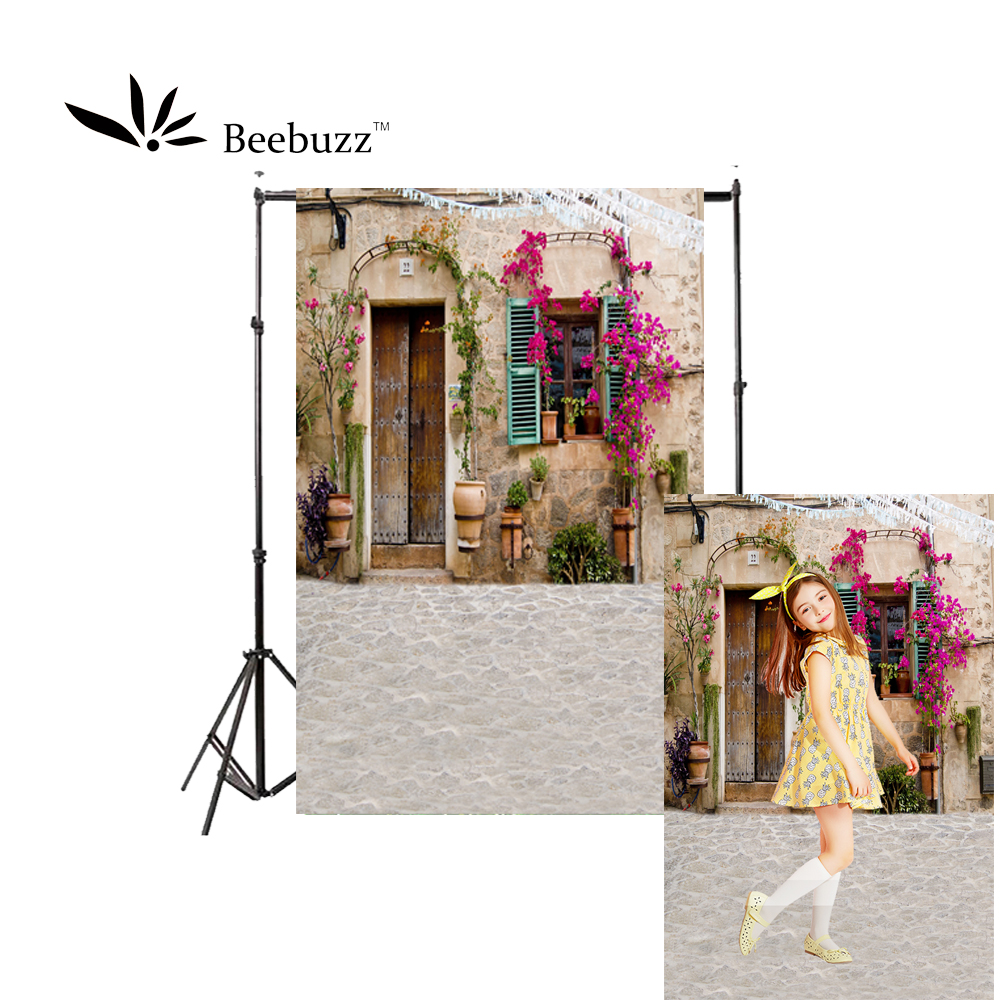 Beebuzz photo backdrop beautiful flower house background small decorated with flowers,romantic ande lovely photophone
