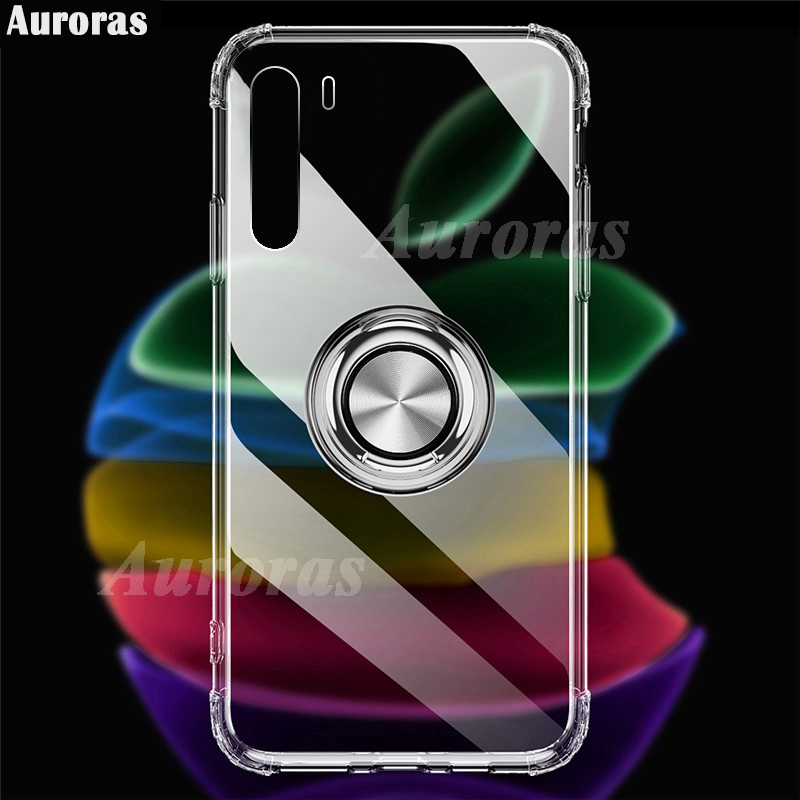 Auroras For Oneplus Nord Case Anti-fall Airbag Clear Case Shockproof With Ring Soft Case For OnePlus Nord Cover