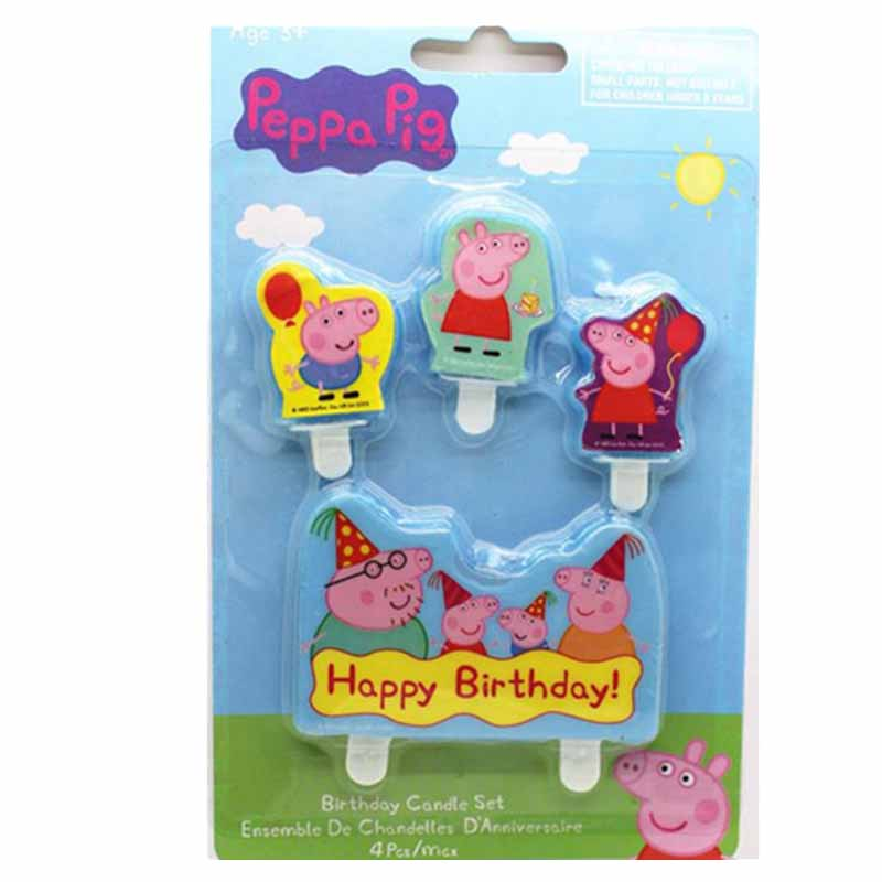 Peppa Pig Birthday Party Decoration Sets Anime Figure Party Decoration Supplies Cup Hat Spoon Activity Kids Birthday Gifts P41