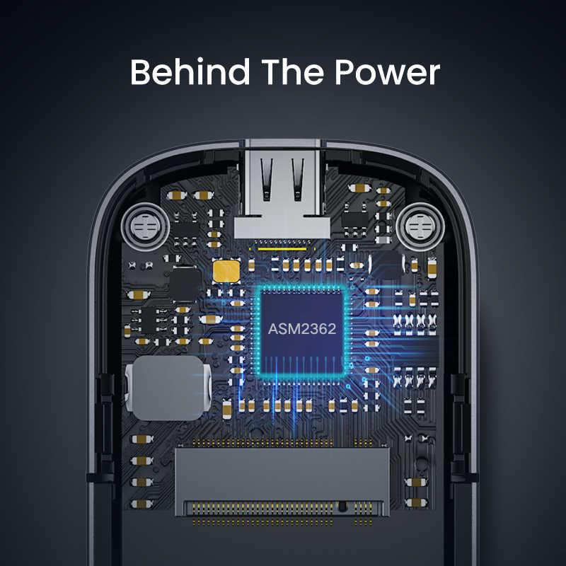 يوجرين M2 SSD حافظات NVME الضميمة M.2 إلى USB Type C 3.1 SSD محول ل NVME PCIE NGFF SATA M/B مفتاح SSD صندوق القرص M.2 SSD