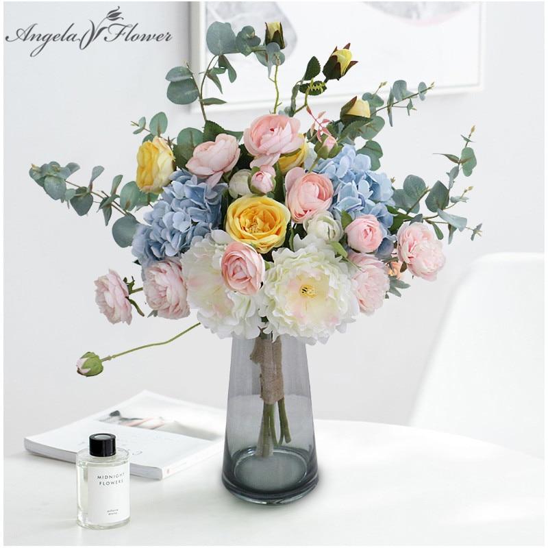 Floral Arrangement Simulation Plants Artificial Flower Silk Rose Peony