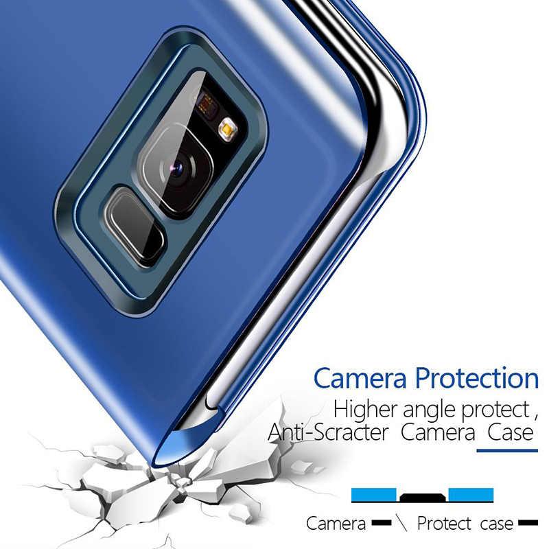 Espelho Caso de Telefone inteligente Para Samsung Galaxy Note 10 S10 S8 S9 Plus S7 S6 Nota Borda 8 9 J3 J5 J7 A3 A5 A7 2017 A6 A8 2018 Tampa