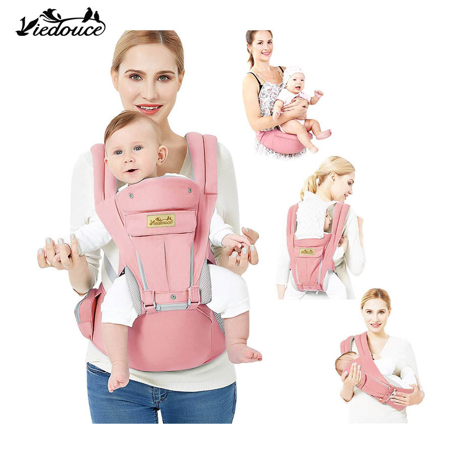 Viedouce ergonomic front facing baby newborn wrap hipseat carrier nest organic breathable sling waist cotton baby carrier bag