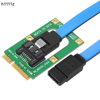 "MSATA To SATA Converter Card Mini SATA To 7-Pin SATA Extension Adapter Full-high Half-size For 2.5"" 3.5"" HDD SSD With SATA Cable"