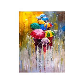 Hot Sell 30*40 and 40*60cm Finished Oil Painting No Frame Rainny Days Picture Art Craft for Home Decors Living Room Artworks image