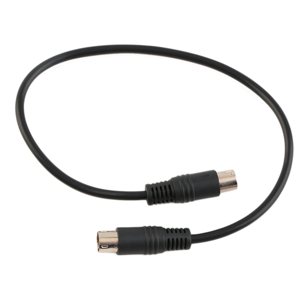New Black 9-PIN Mini TO 9-PIN Mini Din Signal Cable For Genesis 2 Scart Cable Hot Promotion Drop Shipping