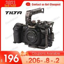 Tilta BMPCC 4K 6K 케이지 TA T01 B G BMPCC 4K 카메라 기본 키트 용 전체 카메라 케이지 SSD 드라이브 홀더 상단 핸들