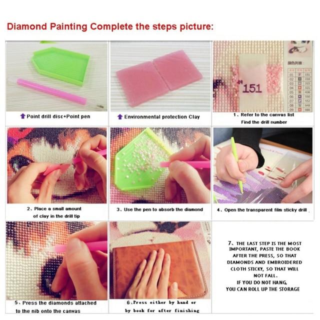 Купить diy 5d diamond painting flower art embroidery mosaic cross stitch картинки цена