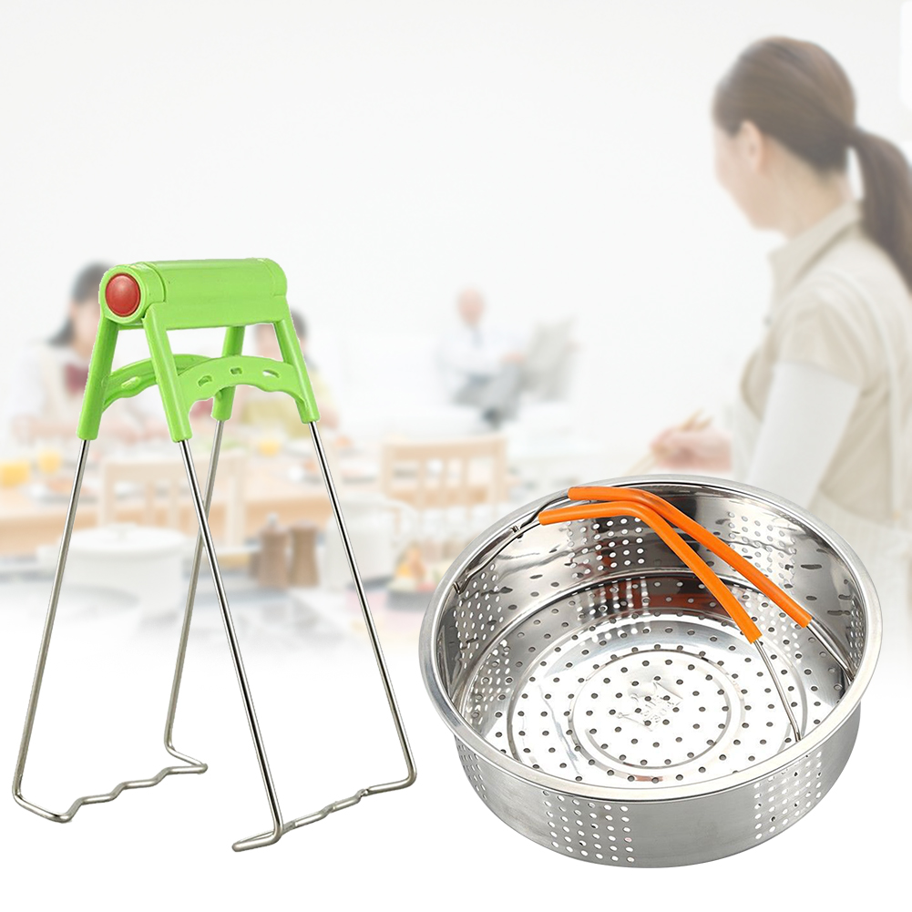 14PCS Non Stick Multipurpose Steamer Basket Oven Mitts Pressure Cooker Accessories Set Stainless Steel Mold Home Eggs Rack