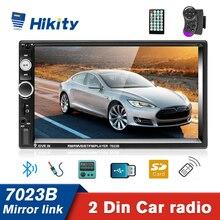 Hikity Autoradio 2 DIn  Multimedia Player 7 Inch  Touch Screen Auto audio Car Stereo Mirror link MP5 Bluetooth USB TF FM Camera
