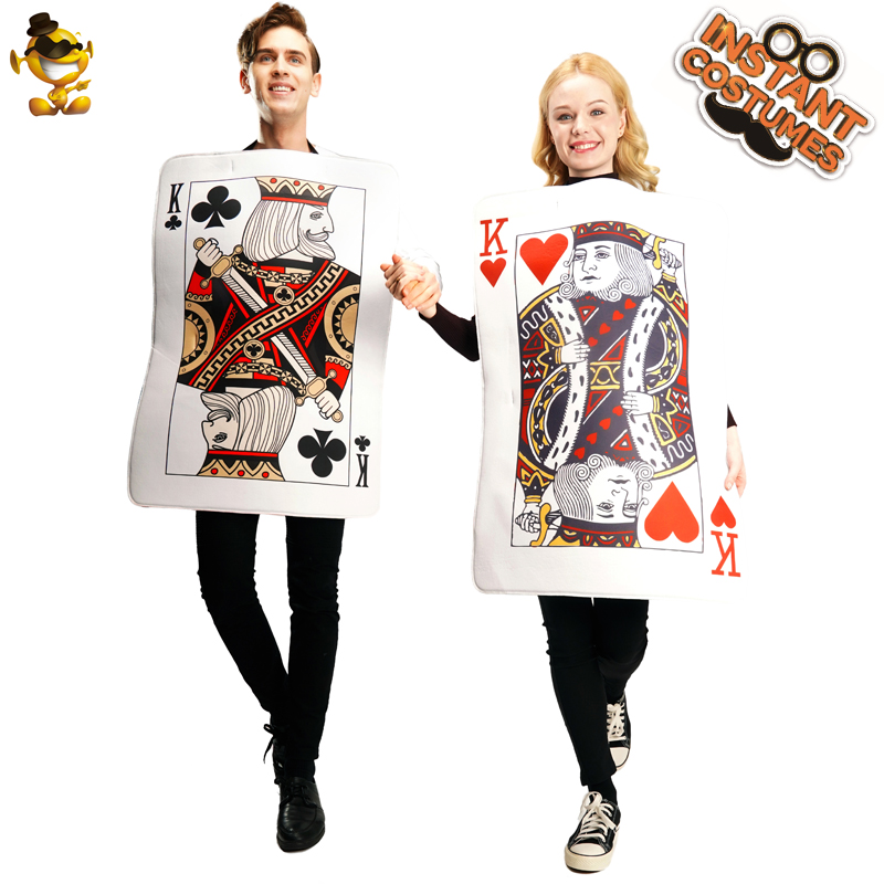 Halloween Adult Unisex King Of Hearts Costumes Role Play Playing Cards For Women Costumes
