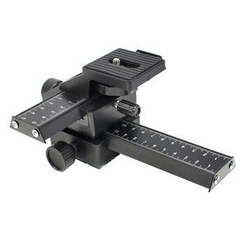 BGNING 4 vías Macro carril de enfoque Slider para Canon Sony Nikon Pentax primer plano de disparo trípode cabeza con tornillo 1/4 para cámara DSLR