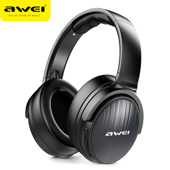 AWEI Budget Bluetooth V5.0 Gaming Headphone Stereo Headset AAC Noise Cancelling With Mic Support TFcard