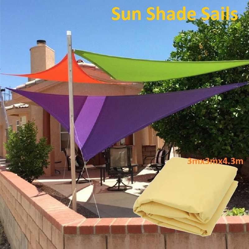 3mx3mx4 3m anti uv sun shelter shading net garden patio sunshade sail camping outdoor awnings gray waterproof screen canopy tent