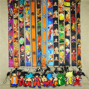 Anime D B Z Goku Neck Strap Lanyard Mobile Phone Charms Key Chain Camera ID Badge Holder fabric Lariat Key Chains Gift Hot