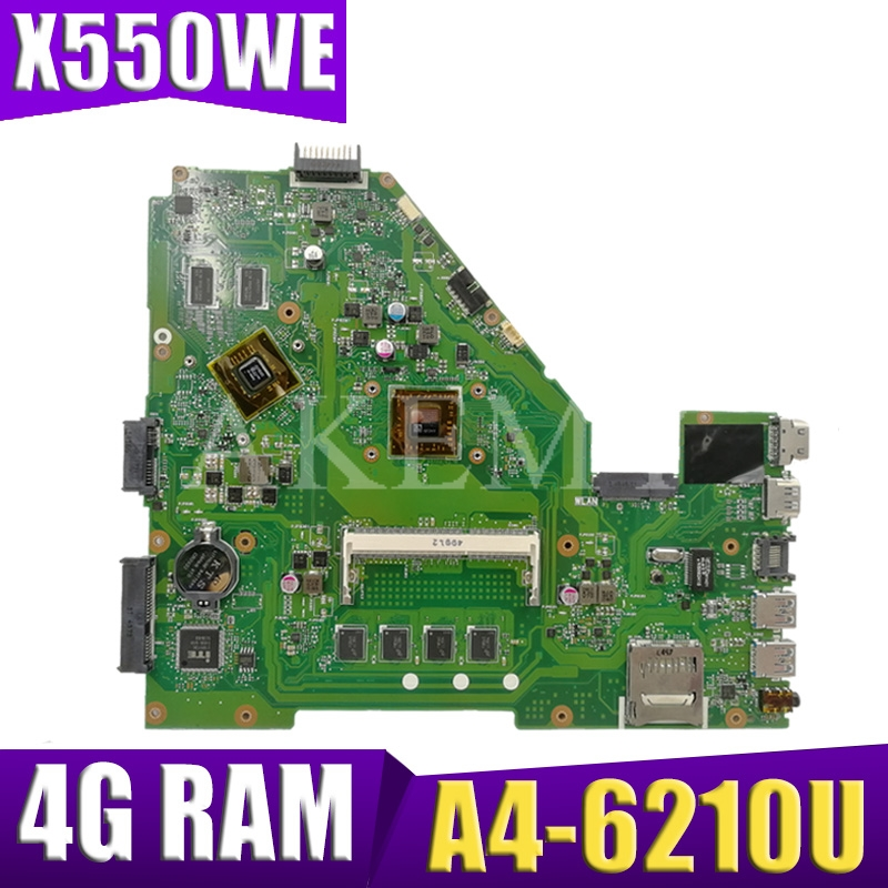 X550WEK Laptop Motherboard For ASUS X550WE X550W D552W X552E X550EP A4-6210U 4G RAM Original Mianboard 100% Test Ok