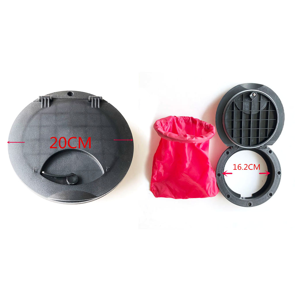 20cm Hatch Cover Deck Plate Kit W/ Red Storage Bag For Fishing Boat Kayak Canoe