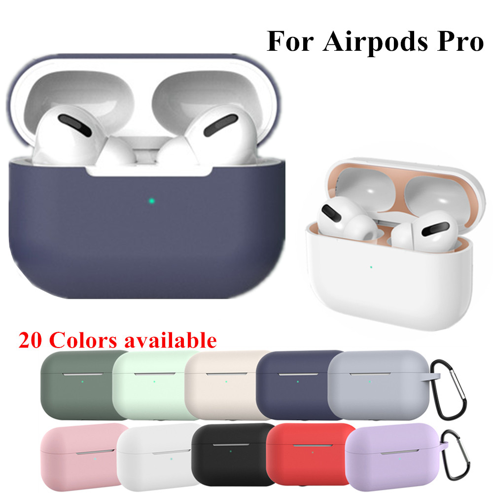 Silicone Cover Case For apple Airpods Pro Case sticker Bluetooth Case