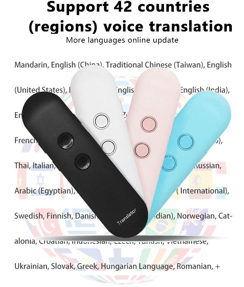 Business Meeting Path Finding Office,Black Muama Enence Smart Portable Voice Translator Instant Real-Time Language Translator Pen Travel 40+Languages