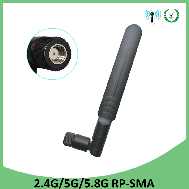 2.4GHz 5GHz 5.8Ghz Antenna 5dBi RP-SMA Connector Dual Band Wifi Antena Aerial SMA Female Wireless Router 2.4 Ghz 5.8 Ghz