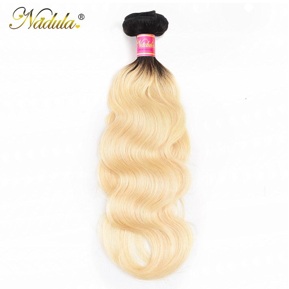 NADULA HAIR Ombre 1B/613  Body Wave Hair s 10-20inch  Bundles  Hair s  1