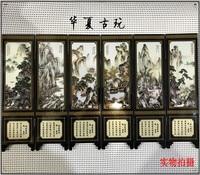 Exquisite antique lacquerware small screen decoration (Tang Bohu)|Decorative Shelves|   -