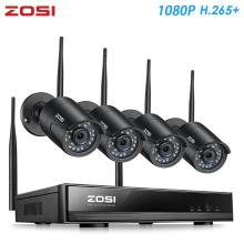 ZOSI H.265 1080P 8CH CCTV Security Surveillance System Wireless WIFI IP Outdoor Camera NVR Kit HDD Remote View in PC Monitor
