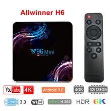4GB 128GB V96 Mini Android 9.0 TV Box Allwinner H6 Quad Core