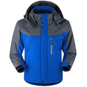 Image 2 - Winter Parka Men Plus Velvet Warm Windproof Coats Mens Military Hooded Jackets Casaco Masculino Casacos Mens Outwear Overcoat