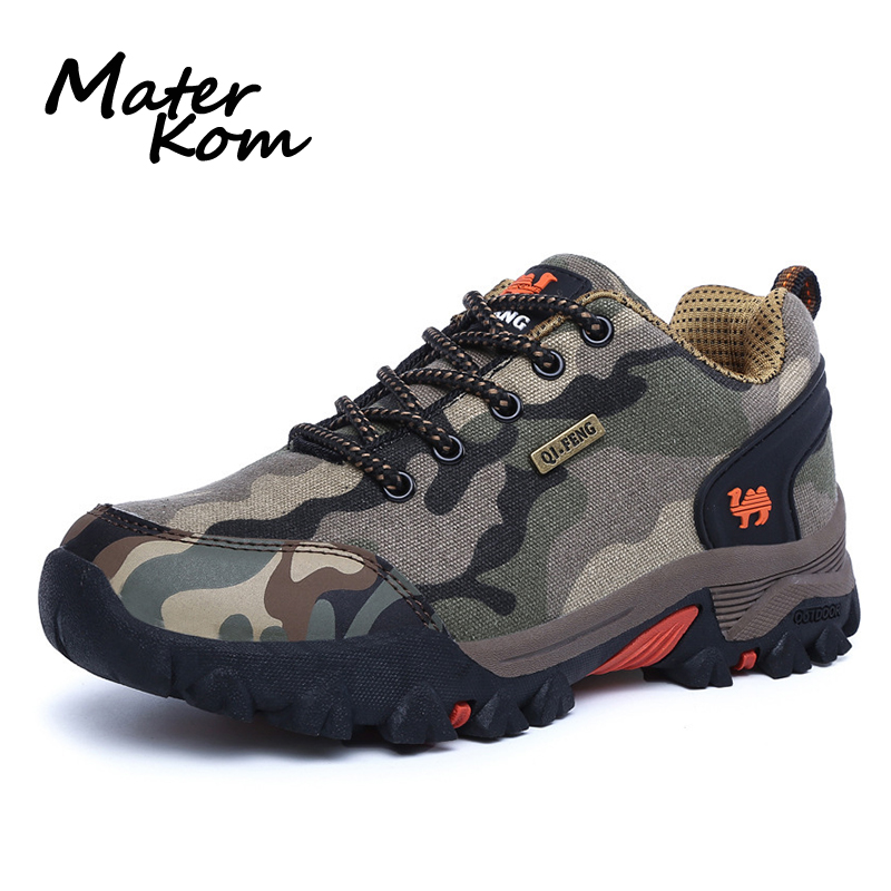 Sneakers Trekking-Shoes Waterproof Outdoor-Lover Camo Camping Tacticas Fashion Men Botas title=