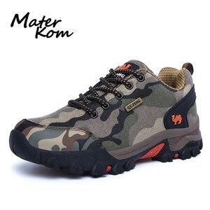 Image 1 - Fashion Camo Wandelschoenen Mannen Sneakers Outdoor Lover Camping Bergbeklimmen Schoenen Waterdicht Trekking Schoenen botas tacticas
