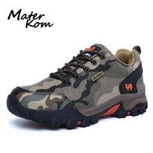 Zapatos de senderismo de camuflaje para hombre, zapatillas para amantes del aire libre, calzado de escalada de montaña, impermeables, deportivas