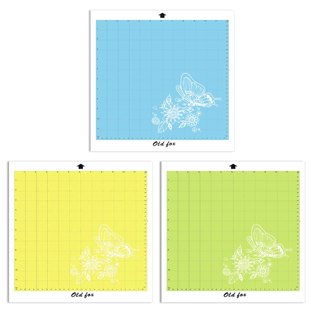 Replacement Cutting Mat Transparent Adhesive Mat Pad With Measuring Grid 12 By 12-Inch For Silhouette Cameo Plotter Machine