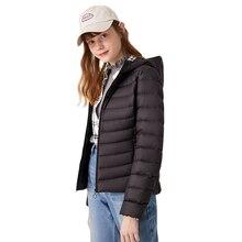 SEMIR 2020 yeni kış şişme ceket kadınlar kış artı kadife kapşonlu uzun kaban kış ceket taşınabilir ceket kadın sıcak dış giyim