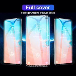 Image 2 - 3D 20D Full Curved Cover Tempered Glass for Samsung Galaxy S10E S10 5G S9 S8 Plus S7 Edge Note 8 9 A8 2018 Screen Protector Film