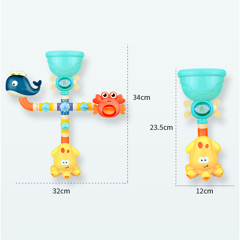 Ultimate SaleBath-Toys Faucet Water-Spray-Set Waterwheel Shower Rubber Duck Animals Baby Kids