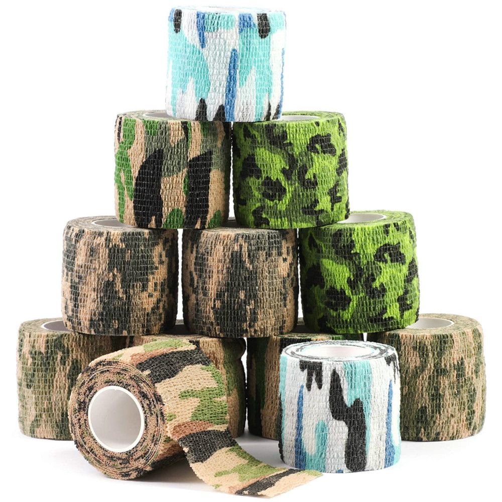 Travel Camping Camouflage Self Adhesive Bandage Medical Gauze First Aid Tape For Sport Ankle Finger Muscle Ankle