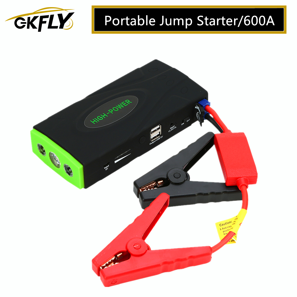 GKFLY High Power Multi-Function <font><b>Car</b></font> Jump Starter Emergency 12V <font><b>Car</b></font> <font><b>Charger</b></font> For <font><b>Battery</b></font> Booster Buster starting <font><b>Cables</b></font> device image