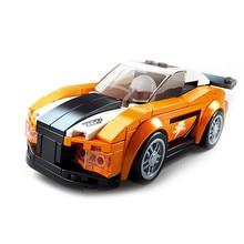Juego de bloques de construcción de coches de carreras para niños, juguete de construcción con ladrillos, Compatible con todas las marcas