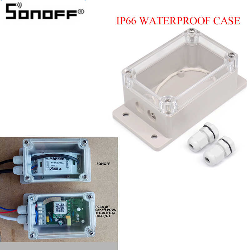 Sonoff IP66 Penutup Tahan Air Case untuk Sonoff BASIC/Rf/Dual/POW/TH16/G1 Rumah Pintar home Automation Wireless Smart Home