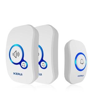 Image 1 - KERUI 무선 스마트 초인종 홈 보안 알람 Welcome Doorbell LED Light 32 방수 버튼이있는 노래 쉬운 설치