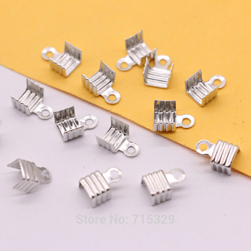 new 50pcs Crimp Bead Covers Necklace bracelet fixed package buckle End Cap Clamp