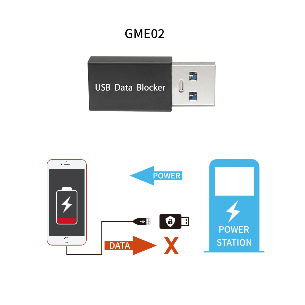 2020 USB Data Blocker Defender Protects Phone & Tablet from Public Charging Stations Hack Proof