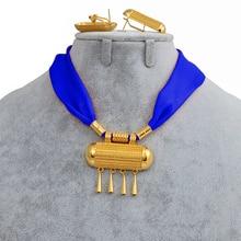Anniyo DIY צבעוני חבל האתיופית סט תכשיטי שרשראות עגילי זהב צבע אריתריאה Habesha תכשיטי סטים #218006